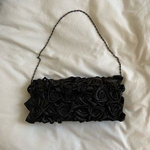 3D Rose Clutch with Detachable Chain Strap